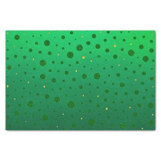 エレガントな点-緑の金のセントパトリックの日 薄葉紙