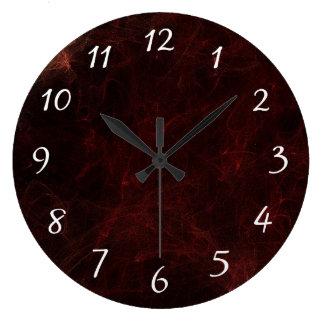 エレガントな煙および火の抽象デザイン ラージ壁時計