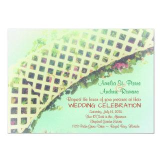 エレガントな熱帯庭園の結婚式の招待状 12.7 X 17.8 インビテーションカード