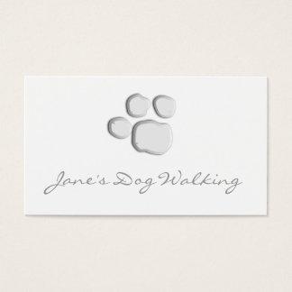 エレガントな犬の歩くの足のプリントの名刺 名刺