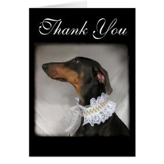 エレガントな犬は感謝していしています言います カード