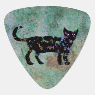 エレガントな猫のカスタムのモノグラム ギターピック