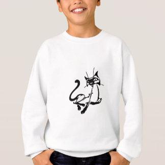 エレガントな猫 スウェットシャツ