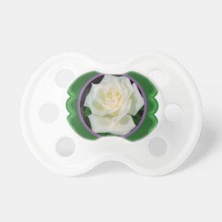 エレガントな白いバラの花の花のグラフィック100のギフト おしゃぶり