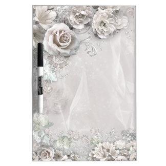 エレガントな白い花 ホワイトボード