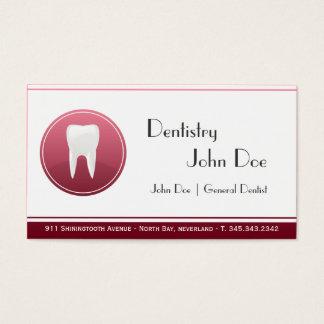 エレガントな白人の歯の歯科医の歯科名刺 名刺