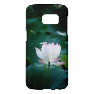 エレガントな白蓮教の花 SAMSUNG GALAXY S7 ケース