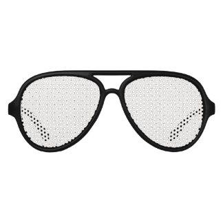 エレガントな白黒の小さいドット・パターン アビエーターサングラス