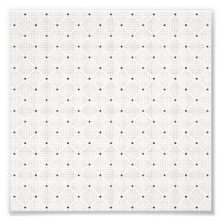 エレガントな白黒の小さいドット・パターン フォトプリント