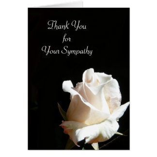 エレガントな白黒バラは感謝していしています カード