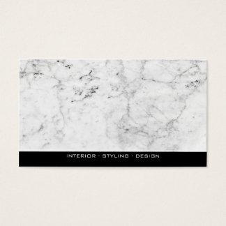 エレガントな白黒モダンな大理石のプロフェッショナル 名刺