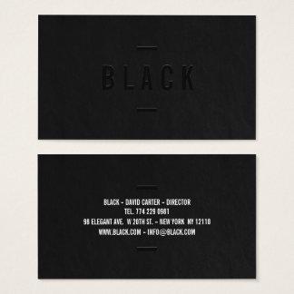エレガントな白黒専門のモダンなシンプル 名刺