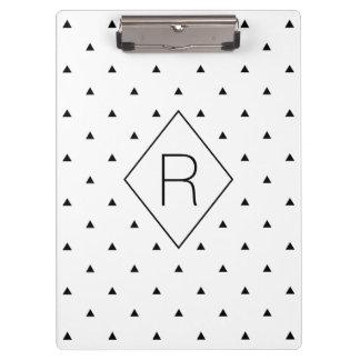 エレガントな白黒幾何学的なパターン|三角形 クリップボード