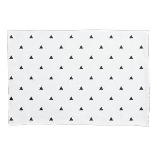 エレガントな白黒幾何学的なパターン|三角形 枕カバー