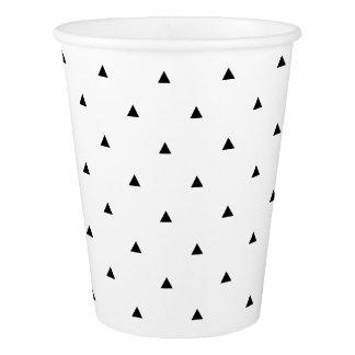 エレガントな白黒幾何学的なパターン|三角形 紙コップ