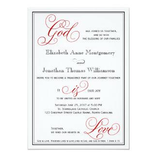 エレガントな神は愛クリスチャンの結婚式招待状です カード