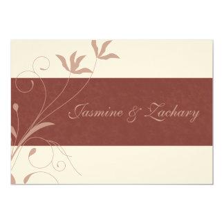 エレガントな秋の結婚式の招待状 カード