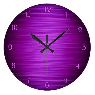 エレガントな紫色によって影で覆われる柱時計 ラージ壁時計