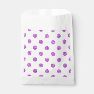 エレガントな紫色のグリッターの水玉模様パターン フェイバーバッグ