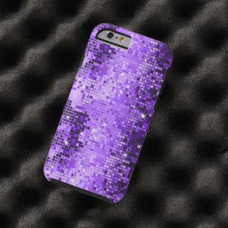 エレガントな紫色のグリッターの金属順序 ケース