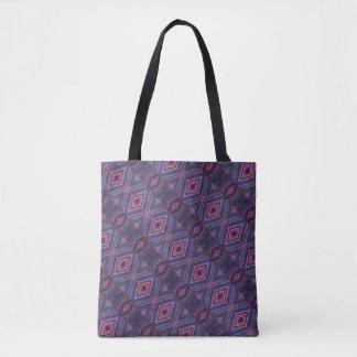 エレガントな紫色のピンクのダイヤモンドパターン トートバッグ