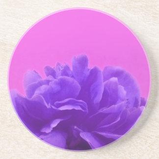 エレガントな紫色のラズベリーの花柄 コースター