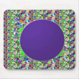 エレガントな紫色ディスクテンプレート: 文字かイメージを加えて下さい マウスパッド
