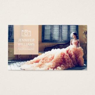 エレガントな結婚式のカメラマンの写真撮影 名刺