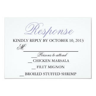 エレガントな結婚式のモダンな招待状の応答カード カード