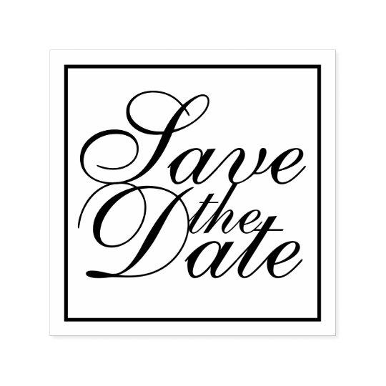 エレガントな結婚式の保存日付 セルフインキングスタンプ
