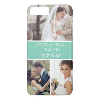エレガントな結婚式の想い出の品のInstagramの写真のコラージュ iPhone 8 Plus/7 Plusケース