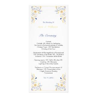 エレガントな結婚式プログラムのテンプレート ラックカード