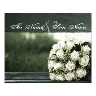 エレガントな結婚式招待状 チラシ