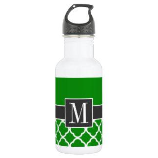 エレガントな緑のモロッコのクローバー ウォーターボトル