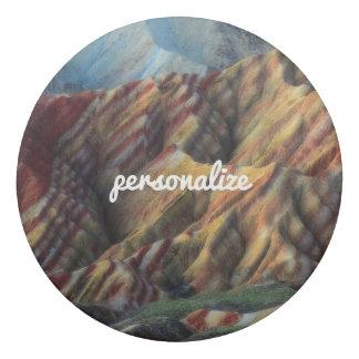 エレガントな美しい山の自然の景色のカッコいい 消しゴム