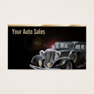エレガントな自動車ディーラー車の販売のヴィンテージ車 名刺