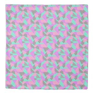エレガントな色のブロックの多彩で幾何学的なパターン 掛け布団カバー