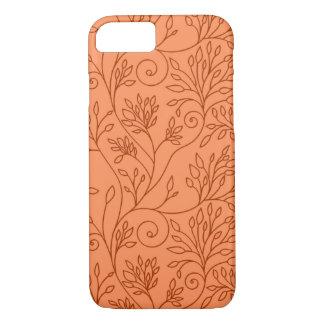 エレガントな花のオレンジiPhone 7の箱 iPhone 8/7ケース