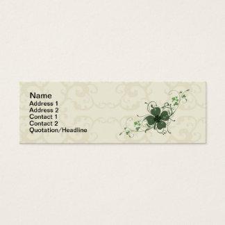 エレガントな花のシャムロックの名刺 スキニー名刺