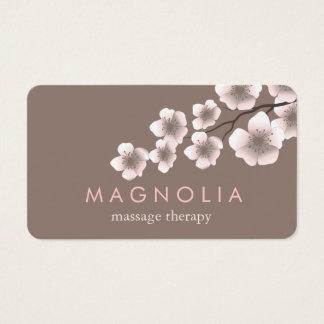 エレガントな花のピンクのシックな禅の名刺 名刺