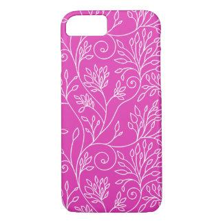 エレガントな花のピンクのiPhone 7の場合 iPhone 8/7ケース