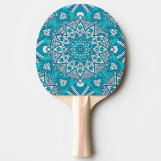 エレガントな花の水のターコイズのBohoの種族パターン 卓球ラケット