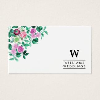 エレガントな花の花の結婚式のイベントプランナー 名刺