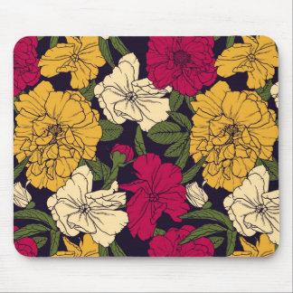 エレガントな花パターン マウスパッド