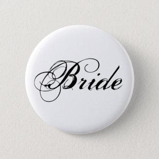 エレガントな花嫁のブライダルパーティボタン 5.7CM 丸型バッジ