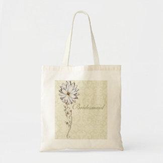 エレガントな花柄の保存日付のデザイン トートバッグ