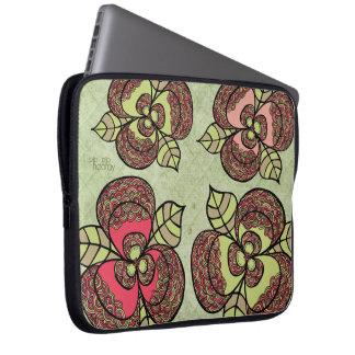 エレガントな花花デザイナーラップトップスリーブのバッグ ラップトップスリーブ