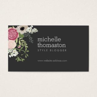 エレガントな花花束のスタイリスト、ブロガー、デザイナー 名刺