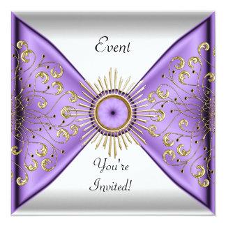 エレガントな薄紫の紫色の金ゴールドの白人のイベントのパーティー カード