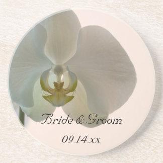 エレガントな蘭の結婚式 ドリンクコースター